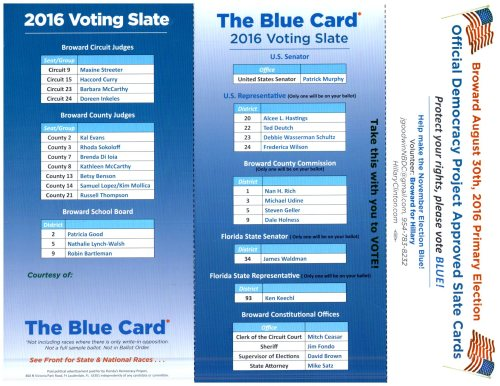 2016 The Blue Card